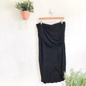 Cabi Side Slit Scrunched Maxi Skirt!